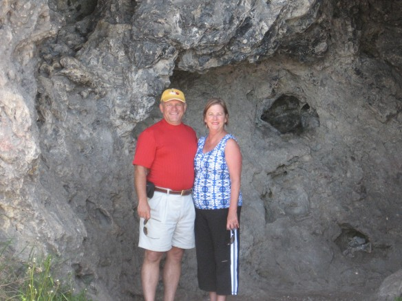 A stop at Devil's Kitchen, one of the youngest limestone formations on the island.  Although the limestone has been in place for 350 million years, the erosion forming the small cave has taken place in the last few centuries.