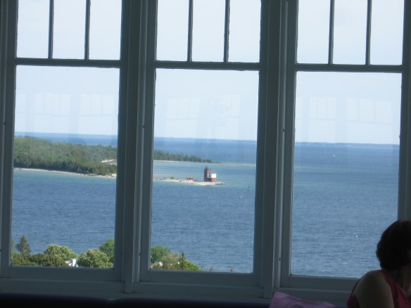 Round Island Lighthouse - framed.