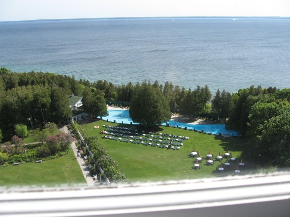 The Grand Hotel pool from the Cupola