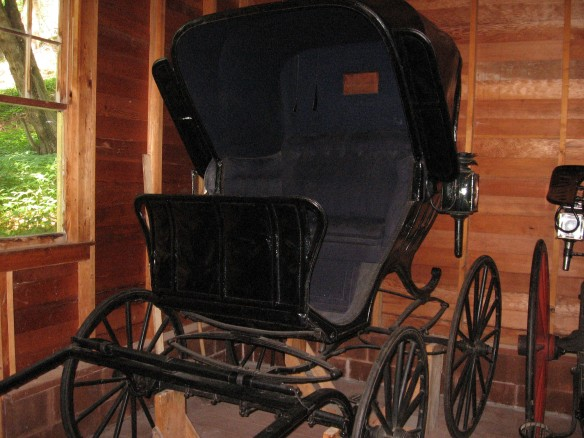 This was a typical doctor's buggy in the 1800's.  There are several like this on the island.