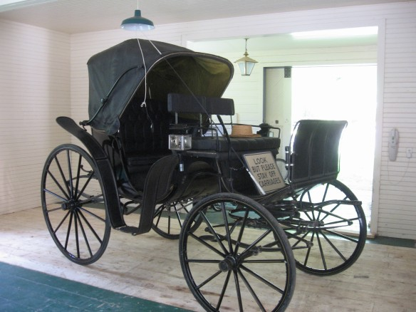 One of the beautiful antique carriages stored here.