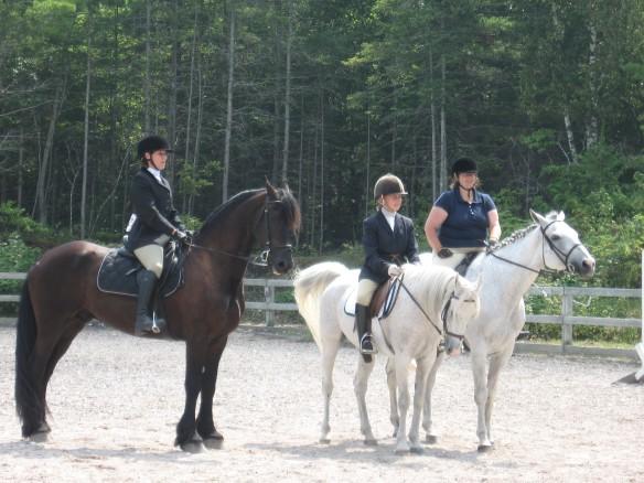 Michelle, Candi, and Trish - three accomplished horsewomen.