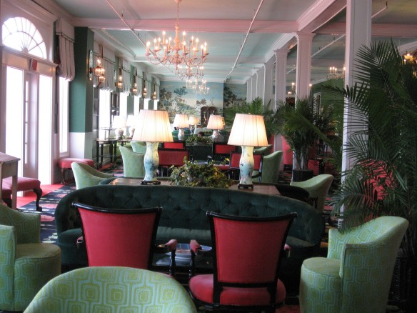 The lobby outside the main dining room, looking east.