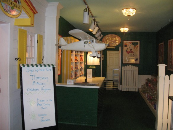 The children's center, where planned activities throughout the day entertain the kids.