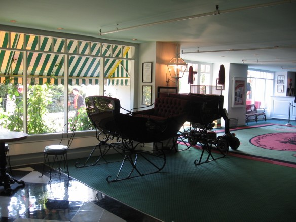 The Grand Hotel winter sleigh.