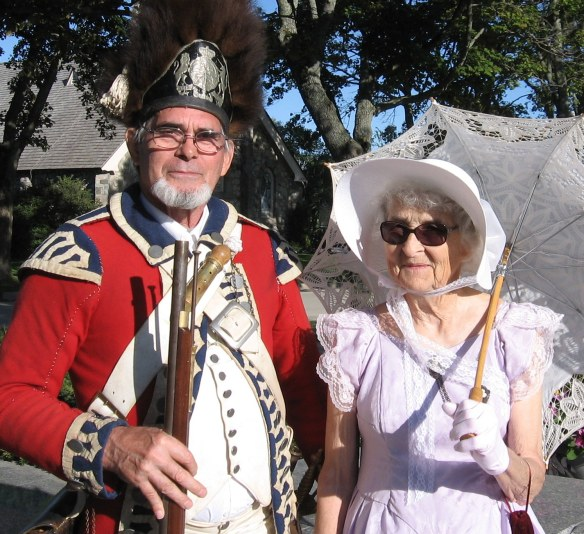 This sweet couple were visiting the island in authentic American Revolution-era costumes.  They do this purely for their enjoyment and love traveling around talking about that period in U.S. history.