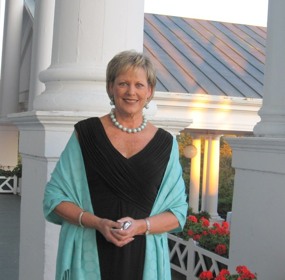 Pat - just before we went into The Grand for dinner.