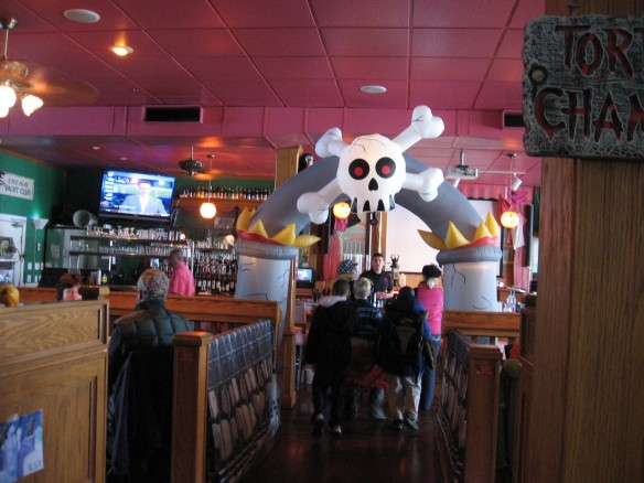 The Pink Pony has put the finishing touches on its Halloween decorations.  The big costume party is Saturday night, a week before Halloween.