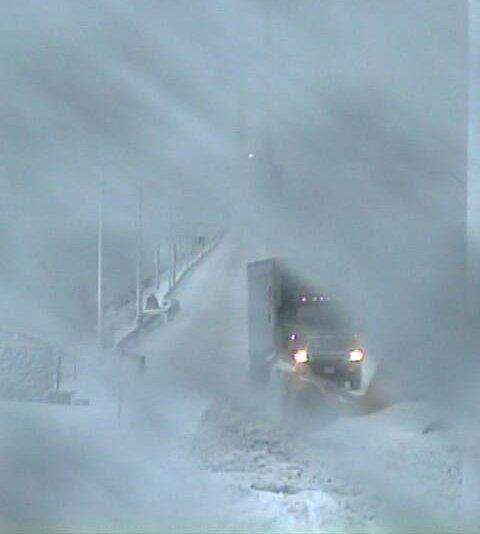 Can you believe the Mackinac Bridge was still open in these conditions?!  I don't think I would have even considered crossing in that!