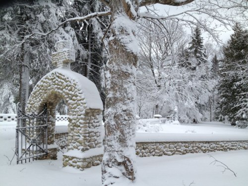 The Island cemeteries today. (Photo: Mackinac Island Winters)