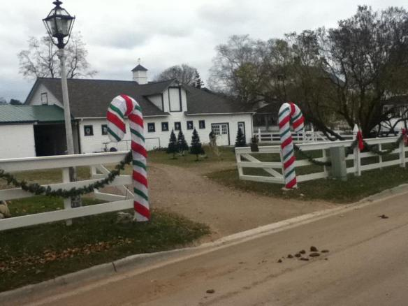 Chambers Corner (at the corner of Market and Cadotte) - all decked out for Christmas and just waiting on some of the white stuff.  (Photo: Jeff Peterson)