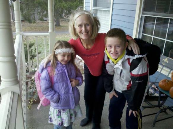 See two grandchildren off to school this week in Lansing.