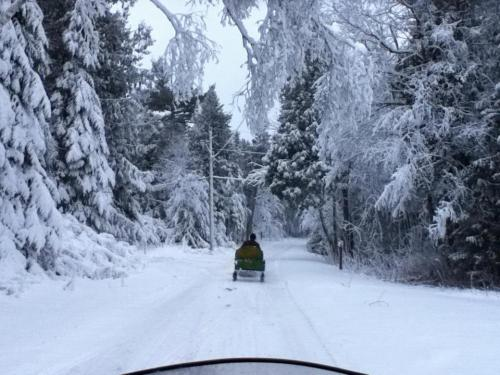 Last Friday the Island snowmobilers  enjoyed the beauty of a frozen Island.  (Photo: Jeff Peterson)