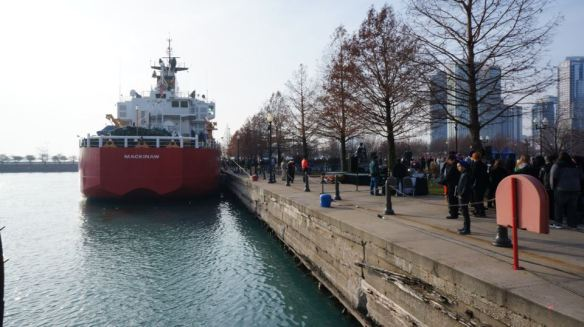 The arrival of the Christmas Ship in Chicago is quite the cause for celebration.