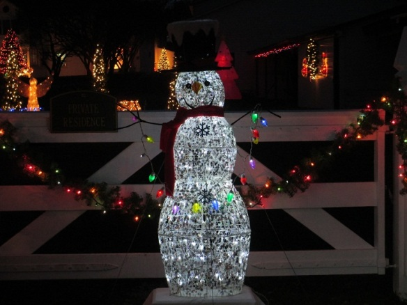 I love this!  Frosty the Snowman is brightly shining at Chambers Corner!  (Photo: Nicole Doud)