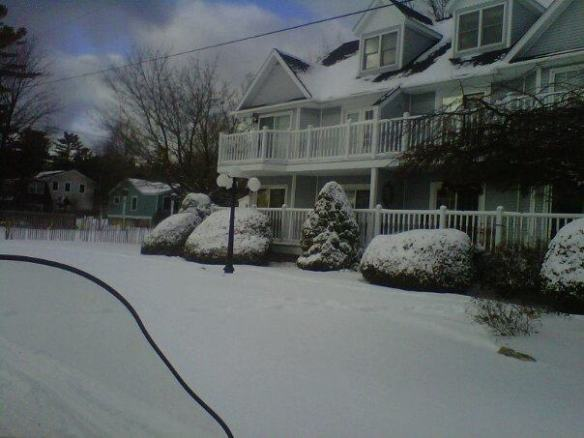 Our friend, Jeff Peterson, spent a few days on the Island last week and captured our condo wearing a blanket of snow.