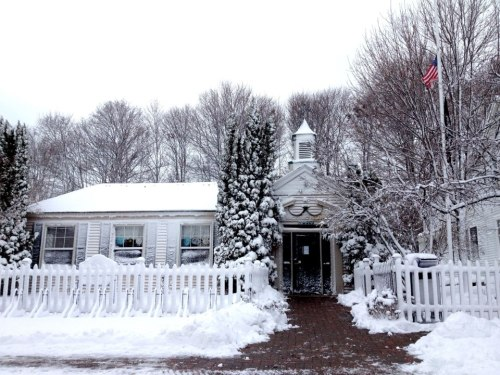 The Mackinac Island Post Office.  Open - come rain, or snow, or sleet, or dark of night.  (Photo:  Mission Point Resort)
