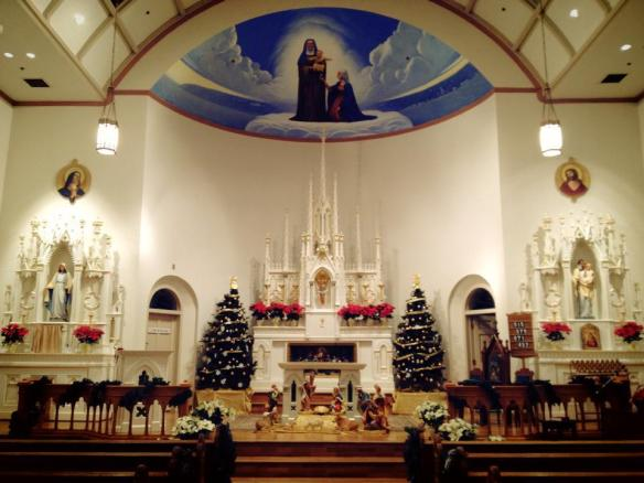 Always beautiful, St. Anne's church decorated for Christmas is even more heavenly.
