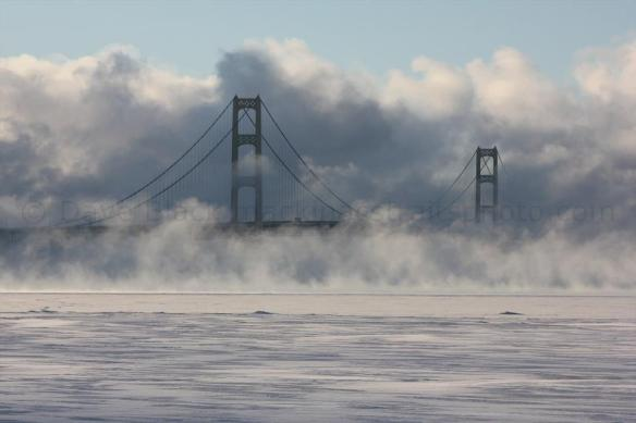 A bone-chilling morning (January 24).  (Photo:  Mackinac Straits Photography Gallery)