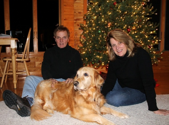 Terry, Sue and Brinkley - the wonderful family who helped make my visit so special.