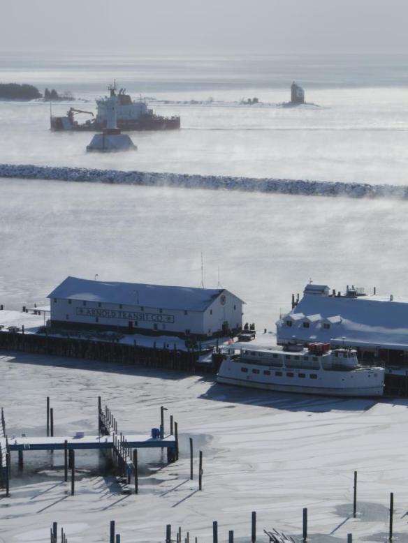 January 22 - Icebreakers.  (Photo:  Clark Bloswick)