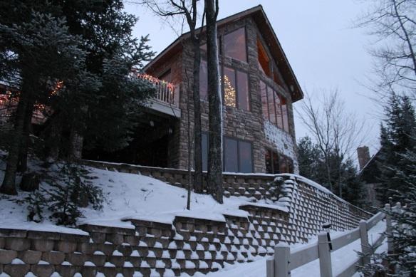 The Conlon's home-away-from-home is beautiful (looks great against the snow, doesn't it)!