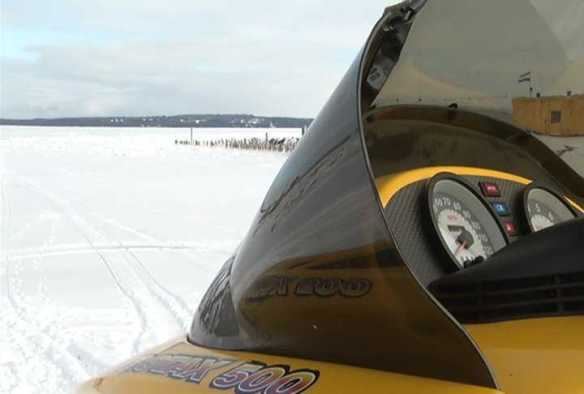 Two days later people began crossing on snowmobiles.  (Photo: 9 and 10 News)