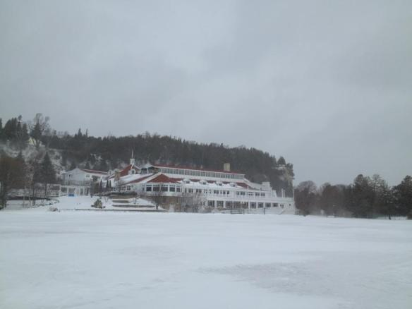 The 1st day of Spring on Mackinac - it wasn't looking too much like Spring!