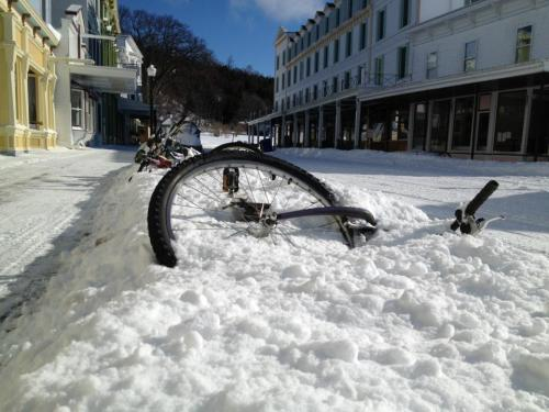 I'm wondering if these are the same bicycles folks have been photographing all winter.