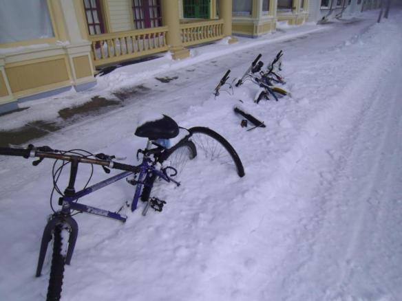 How not to store your bike for winter.  (Photo: Greg Main)