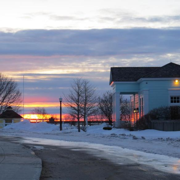 Mackinac Islanders have certainly seen their share of beautiful sunrises and sunsets this winter?