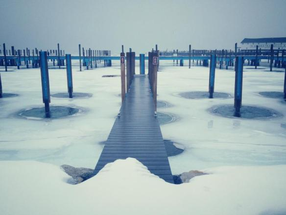 An awesome photo by Mary McGuire of the Mackinac Island Marina.