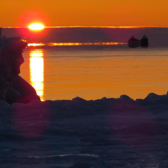 """Clark named the ice figure on the left """"Old Man Winter""""."""