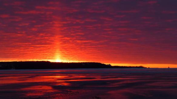 """Clark and Robert both seem to like arising early and capturing the most amazing sunrises.  This one from Clark is today - Palm Sunday.  And all God's children said, """"Amen."""""""