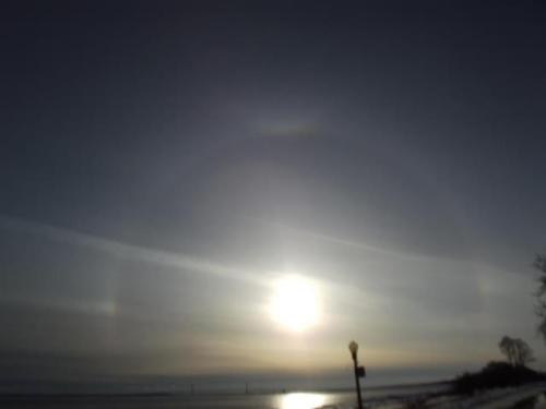 Sun dog on March 15. (Photo: Greg Main)