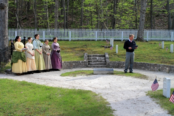 Phil Porter, the Director of Mackinac Historic State Parks, gave a brief history of the traditional ceremony . . .