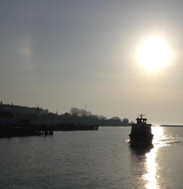 The first Shepler Ferry of the season arrives at the Island early this past Monday morning.  (Photo:  Caddywampus)