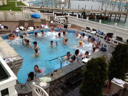 . . . and the hot tub was packed!