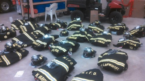 New gear for our wonderful Mackinac Island Fire Department. (Photo: Jason St. Onge)