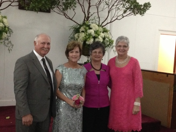 My wonderful Sumner first cousins - Ronald, Midge (mother-of-the-bride), Wanda, and Sharon.