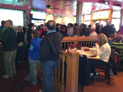 The Pink Pony bar was packed, the restaurant was packed, the outside bar and eating area was packed . . .