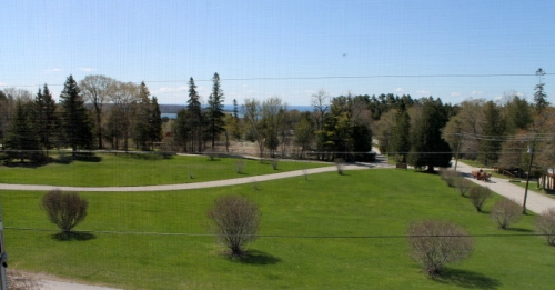 View from third floor bedroom of Lake Huron