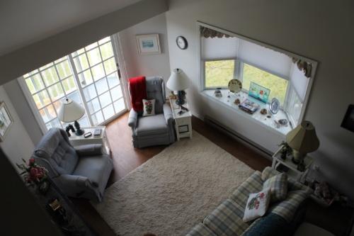 View of den from third floor bedroom