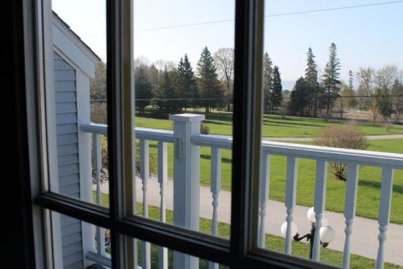 View through Master Bedroom French doors of Surrey Hill and Lake Huron (2)