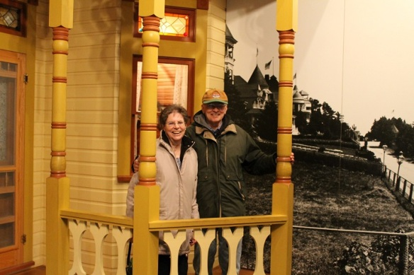 After lunch we toured the excellent museum in the fort.  Lowell and Faye loved the section where a replica of one of the bluff mansion porches is constructed.