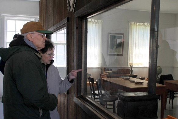 They really enjoyed the Post School House, which remind them both of the one-room schools they had once attended.