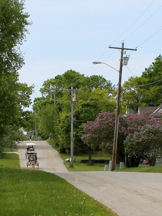 Cadotte Avenue runs all the way through the Village and into the State Park - where it dead ends into Annex Road.