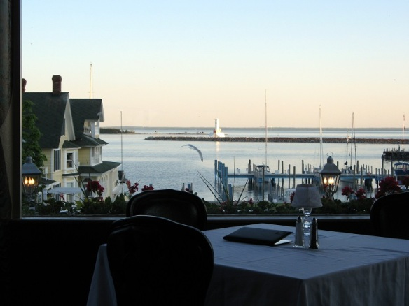 My sweet Ted took me to dinner Friday evening at The Island House, which overlooks the Mackinac Island Marina.