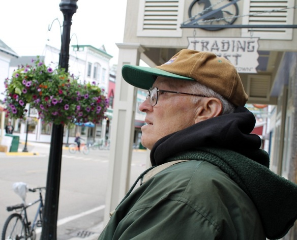 Occasionally he would stop and try to figure out where something had been in relation to what he remembered from almost 30 years ago.  He said Main Street had changed a lot.