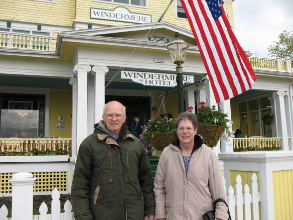 Lowell and me in front of the Windermere, which is owned by the daughter of Ella Chambers.